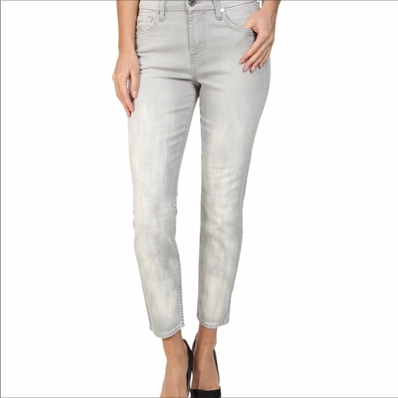 7 For All Mankind Denim - 7 For All Mankind gray cropped skinny jeans   27